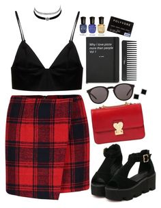 """""""♥"""" by polinachaban ❤ liked on Polyvore featuring T By Alexander Wang, Valentino, Yves Saint Laurent, Charlotte Russe, Yvel, Sephora Collection and Deborah Lippmann"""