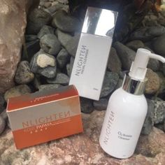 Product DescriptionNLIGHTEN ACNE, PIMPLES AND MILIA SET 1 (O2 Bubble. Kojic, Facial Cleanser)  Step 1:Spread just the right amount of NLighten O2 Bubble Cleanser  onto your dry face and leave it until it bubbles up. This signifies deep cleansing while you wait. Rinse with warm water.NLighten O2 Bubble Cleanser is a one of kind non irritant solution for your dead skin cells, dark spots, skin impurities and excess oil. This product uses Oxygen Therapy to penetrate deep beneath your pores and… Bubble Up, Dry Face, Facial Cleanser, Dead Skin, Dark Spots, Pimples, Therapy, Deep, Oil