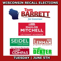 Recall Scott Walker!! Vote on June 5th!