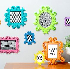 3D printed photo frames by Cubify