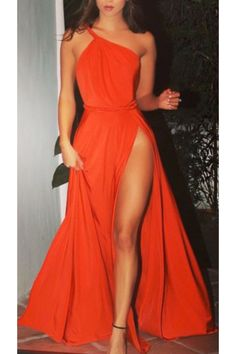 Prom Dress Beautiful, 2019 Evening Dresses A Line One Shoulder Chiffon With Slit Sweep Train, Discover your dream prom dress. Our collection features affordable prom dresses, chiffon prom gowns, sexy formal gowns and more. Find your 2020 prom dress Orange Prom Dresses, Sexy Dresses, Fashion Dresses, Girls Dresses, Petite Dresses, Long Dresses, Blue Dresses, Casual Dresses, One Shoulder Prom Dress