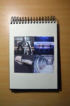 Schetsboek / 4 van de 10 verschillende beeldmaterialen.