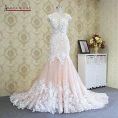2017 Hot sale sexy mermaid lace wedding dress 100% real photos amanda novias wedding dress  FREE Shipping Worldwide  Get It here ---> https://thewomandress.com/2017-hot-sale-sexy-mermaid-lace-wedding-dress-100-real-photos-amanda-novias-wedding-dress/