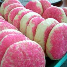 Sugar cookies with pink or blue sprinkles for a gender reveal party