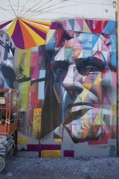 L.A.'s Giant Mount Rushmore Street Mural via My Modern Met