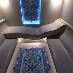 """ХАММАМ В ЧАСТНОМ ЗАГОРОДНОМ ДОМЕ, БЕЛГОРОД, 2014 Проект этого хаммама уникален тем, что помещение имеет сложную многоугольную форму, при этом помещение... #мозаика #бассейн #хаммам #дизайн #панно Мастерская """"Мир мозаики и витража"""""""