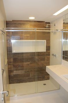 Love a double shower Laundry In Bathroom, Small Bathroom, Shower Remodel, Bathroom Interior Design, Bath Design, Sweet Home, New Homes, House Design, Decoration
