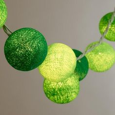 One of my favorite discoveries at WorldMarket.com: Light Green Happy 20-Bulb String Lights