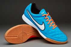 Nike Futsal Shoes - Nike Tiempo Genio Leather Indoor - Neo Turq-White-Hyper Crimson - Indoor - Soccer Cleats - 631283-418