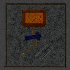 Tombeau (estampe numérique sur toile (80 x 80 cm))