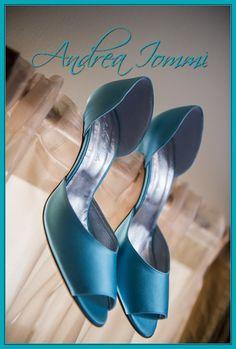 "scarpe da sposa colorate. raso seta color ""Baby Blue"". tacco 10 cm. www.andreaiommi.it  #scarpe #heels #stiletto #fashion #satin #matrimonio #scarpesumisura #shoesonmesure #weddingshoes #bridalshoes #shoes"