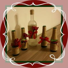 From bottles to christmas decoration