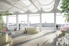 Las 11 propuestas para el nuevo Centro de Fundación Nobel en Estocolmo,A Room and a Half. Imagen © Nobelhuset AB
