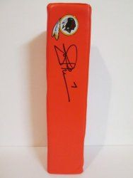 SOLD OUT! Joe Theismann signed Washington Redskins Rawlings football touchdown end zone pylon w/ proof photo.  Proof photo of Joe signing will be included with your purchase along with a COA issued from Southwestconnection-Memorabilia, guaranteeing the item to pass authentication services from PSA/DNA or JSA. Free USPS shipping. www.AutographedwithProof.com is your one stop for autographed collectibles from Washington DC teams. Check back with us often, as we are always obtaining new items.