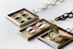 So cute! - MAKE   How-To: Paper Butterfly Specimen Pendants