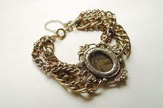 Bracelet with victorian photo locket.