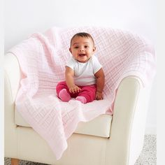 Big Baby Blocks Baby Blanket.  Knit your little one a soft and sweet blanket.