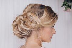 Large rose gold, silver or gold crystal wedding hairpins - Maisie - Debbie Carlisle