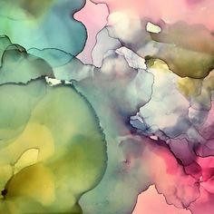 """detail of """"Tell Me the Truth"""" alcohol ink and resin on Claybord abstract art by Amanda Moody - Amanda Moody (@bombshelves) on Instagram: """"Ohhhhhhh so THIS is where this piece is taking me. I get it now. #wip"""""""