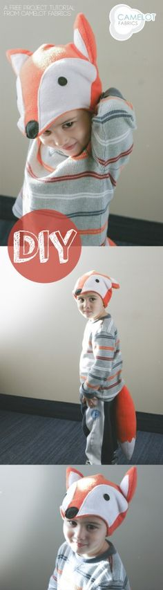 DIY fox costume: I am picturing a woodland play pretend area with all sorts of animal characters!! fox tail sewing, diy woodland costume, animal hats, diy halloween costumes, diy fox costume, costume halloween, diy fox hat, kid