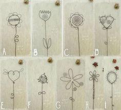 fleurs fil fer latelierdesof