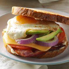 Bacon, Egg & Avocado Sandwiches from Taste of Home