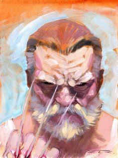 Old man Logan, in Seb F.'s Esad Ribic Comic Art Gallery Room Comic Book Artists, Comic Book Characters, Marvel Characters, Comic Books Art, Comic Art, Wolverine Art, Logan Wolverine, Logan Xmen, Thor