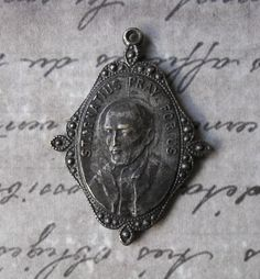 Very Rare & Old Basque Catholic Medal Saint Ignatius Patron Of Basque Country / Soldiers And Saint Francis Xavier Patron Of Foreign Missions ~ SOLD!!!
