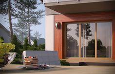 Projekt domu D102C 126,45 m2 - koszt budowy - EXTRADOM Windows, Ramen, Window
