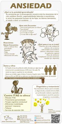 La ansiedad y sus consecuencias - #salud #infografia #health: