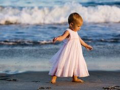A beautiful summer evening and an enchanting one year old at the #beach