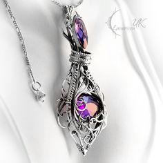 GHAZARTIALL- Silver and Purple Zirconia. by LUNARIEEN.deviantart.com on…