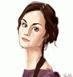 Downton Abbey Addicts: Beautiful Lady Mary Caricature