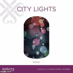 Inspired by the night lights, this jewel tone luster-finish design, 'City Lights' will have you counting down to midnight in style.