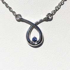 #75 - Montana Yogo Sapphire Round in Pear Crossover Necklace Sterling Silver #ring #montanasapphires #montanasapphirering #engagement#yogo #yogosapphire #montana #montanasapphire #macsgems #sapphire #gemstone #montanayogosapphire #gems #americangemstones #naturalsapphire #gemmountain #sapphireblue #handmadejewelry #sapphirejewelry #naturalgemstone #bluesapphire #followersofinstagram #bigskycountry #ethicallymined #instagramjewelry #fourosix #MadeInMontana #montanajewelry #tealsapphire… Sapphire Jewelry, Sapphire Gemstone, Blue Sapphire, Sterling Silver Chains, Sterling Silver Earrings, Silver Ring, Natural Sapphire, Crossover, Natural Gemstones
