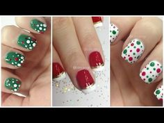 nail polish christmas nail art - Google Search