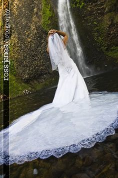 Ross James Wedding Photography: Trash the Dress -Waterfall Style-