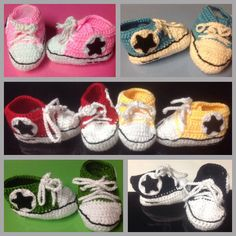 A personal favorite from my Etsy shop https://www.etsy.com/listing/129971267/adorable-sneaker-booties-for-boys-and