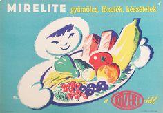 Deep-frozen Fruits, Pottage and Ready-made Food from Közért /  Mirelite gyümölcsök, főzelék és készételek a Közérttől Artist: Macskássy János 1952