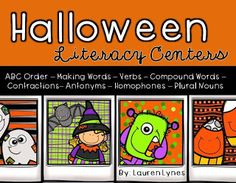 Halloween Literacy Centers!