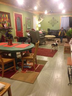 Painted and glazed hardwood floors