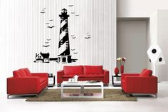 Newclew LIGHTHOUSE Birds Sea removable Vinyl Wall Decal Home Décor Large Decalgeek http://www.amazon.com/dp/B00CFPP7S8/ref=cm_sw_r_pi_dp_Ozv7tb199JQRE