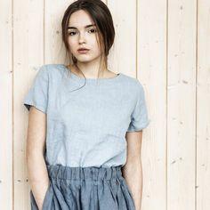 Basic linen t  shirt/ linen tank top/ linen by notPERFECTLINEN