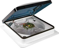 Fan-Tastic Vent RV Roof Vent with Thermostat and Rain Sensor, Manual and Automatic Speeds 12 Volt RV Vent Fan, Smoke Dome RV Vent Cover - Model 7350 - White 4x4 Camper Van, Camper Parts, Diy Camper, Rv Parts And Accessories, Accessories Online, Vent Covers, Roof Vents, Roof Covering, Thing 1