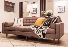 The Spencer Sofa with wood legs sitting pretty at the Smith Street Modern Anthology location. Wood Sofa, Sleeper Sofa, Will Smith, Sofas, Love Seat, Social Media, Couch, Legs, Decorating