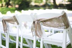 burlap chair sash.