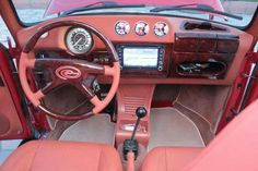 I like the lower stereo like that so it doesn't interfere with the wiper motor Automotive Upholstery, Car Upholstery, Vw Baja Bug, Vw Super Beetle, Kdf Wagen, Vw Vintage, Truck Interior, Fancy Cars, Vw Cars