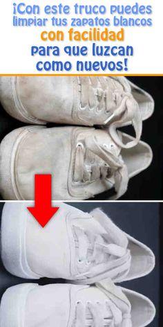 ¡Con este truco puedes limpiar tus zapatos blancos con facilidad para que luzcan como nuevos!