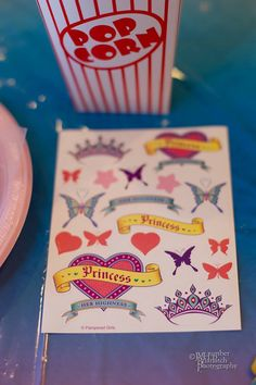 Princess Party Stickers