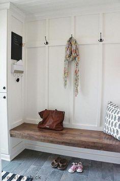 Elegant Minimalist Farmhouse Entry.